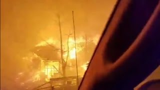 Download Gatlinburg Wildfire Evacuees Have Close Call as Blaze Closes In Video