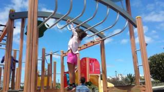 Download 6Year old Girl monkey bars very good Video