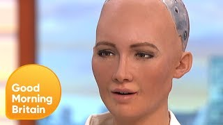 Download Humanoid Robot Tells Jokes on GMB! | Good Morning Britain Video