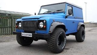 Download Landrover Defender full wrap in Arlon Blue Aluminium - 2K Customs Inverness Video