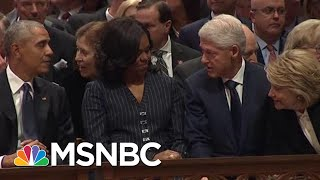 Download Watch Trump, Hillary Clinton, Obama Sit Together At Bush Funeral | The Beat With Ari Melber | MSNBC Video