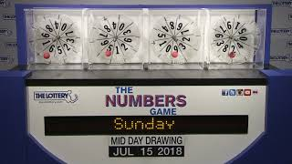 Download Midday Numbers Game Drawing: Sunday, July 15, 2018 Video