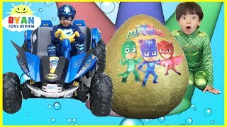 Download Pj Masks Toys videos Compilation for Kids! Giant Egg Surprise Headquarters Playset Catboy Gekko Video