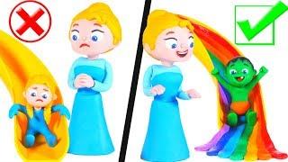 Download KIDS PREFER RAINBOW SLIDE ❤ SUPERHERO PLAY DOH CARTOONS FOR KIDS Video