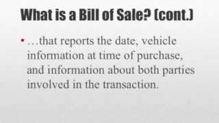Download How to Write a Bill of Sale Video