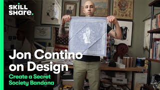 Download Jon Contino on How to Design a Secret Society Bandana Video