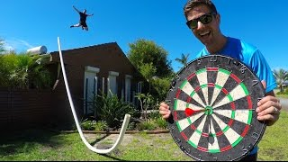 Download IMPOSSIBLE DARTS BULLSEYE! (WITH HUGE PIPE) | How Ridiculous Video