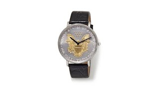 Download Croton U.S. Silver Dollar Leather Strap Watch Video
