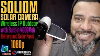Download #Soliom Wireless IP Outdoor Solar Camera 📹 : #LGTV Review Video