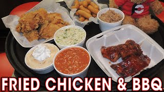 Download FRIED CHICKEN & CAROLINA BBQ CHALLENGE!! Video