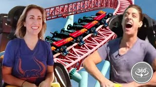 Download People Afraid Of Roller-Coasters Ride One For The First Time (360° Video) Video