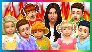 Download The Sims 4 - SEVEN TODDLER CHALLENGE!! (Sims 4, Episode 3) Video