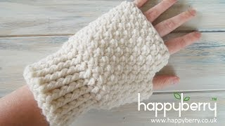 Download (Crochet) How To - Crochet Fingerless Mitten Gloves Video