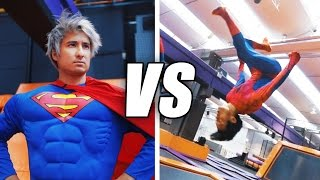 Download SPIDERMAN vs SUPERMAN Trampolin Challenge | Julien Bam & Gong Bao Video