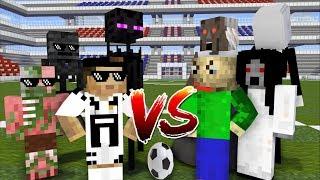 Download Monster School : FOOTBALL CHALLENGE (RONALDO VS BALDI'S , SLENDRINA, GRANNY) - Minecraft Animation Video