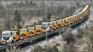Download Trucks on Train | Automobile Rail Transport | Indian Railways Video