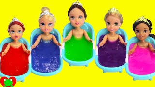 Download Disney Princess Slime Bath Surprises LEARN Colors Video
