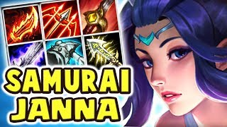Download JANNA HAS A SWORD NOW?! NEW SKIN SACRED SWORD JANNA JUNGLE | FULL AD WHY DOES THIS WORK?? Nightblue3 Video