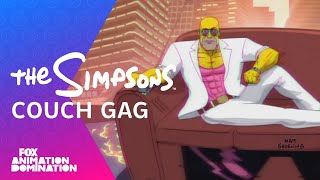 Download LA-Z Rider Couch Gag From Guest Animator Steve Cutts | Season 27 | THE SIMPSONS Video