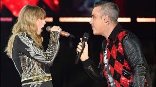 Download Robbie Williams and Taylor Swift Angels #live at Wembley Video