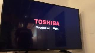 Download Toshiba 55 inch Google cast TV turn on for the first time Video