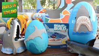 Download Shark toys HUGE playdough surprise eggs for kids SHARK WEEK with FInding Dory toy surprises Video