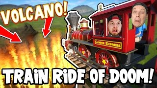 Download TRAIN RIDE OF DOOM!! - Planet Coaster! #6 W/AshDubh! Video