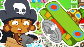 Download AIRPLANES AND MONKEY BUCCANEERS ONLY CHALLENGE! - BLOONS TOWER DEFENSE 5 Video