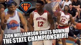 Download Zion Williamson's LAST HIGH SCHOOL GAME Ends with a DUNK SHOW!! | 3Peat State Champs Video