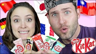 Download Tasting KitKats From Around the World!!! Video