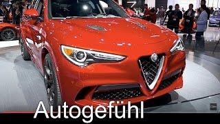 Download Alfa Romeo Stelvio Quadrifoglio SUV first Exterior/Interior Review LA Motor Show all-new new Video