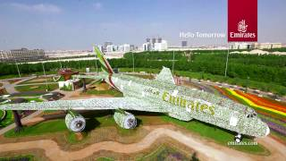 Download Emirates A380 at Dubai Miracle Garden | Emirates Airline Video