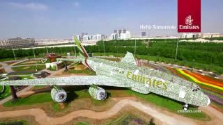 Download Emirates A380 at Dubai Miracle Garden Video
