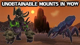 Download Every Unobtainable Mount In World of Warcraft Video
