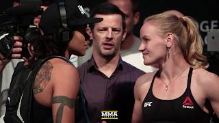 Download UFC 215: Amanda Nunes vs. Valentina Shevchenko Staredown - MMA Fighting Video
