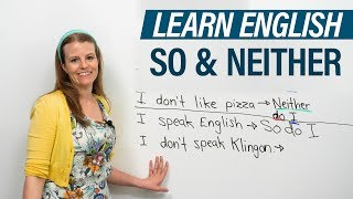 Download How to use SO & NEITHER in English: ″So do I″, ″Neither am I″... Video