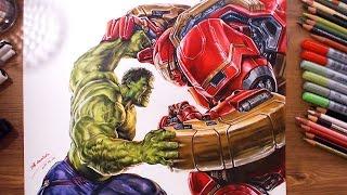Download Avengers : Hulk vs Hulkbuster(Veronica) - speed drawing | drawholic Video