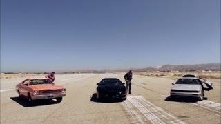 Download DeLorean vs KITT vs General Lee | Hollywood Cars | Top Gear USA | Series 2 Video