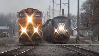 Download The most EPIC train race you'll ever see! Amtrak vs. BNSF in Ottumwa, IA 12/9/14 Video