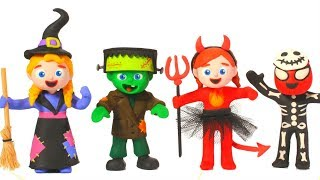 Download SUPERHERO BABIES HALLOWEEN COSTUMES ❤ SUPERHERO PLAY DOH CARTOONS FOR KIDS Video