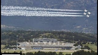 Download Air Force Academy Thunderbirds practice before graduation day Video