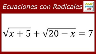 Download ECUACIONES CON RADICALES - Ejercicio 6 Video