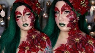 Download Poinsettia Poison Ivy Bodypaint & Makeup Tutorial Video