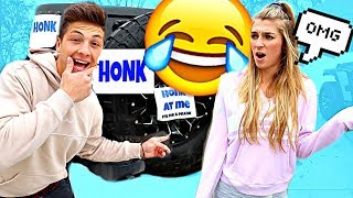 Download HONK AT ME PRANK *SHE GETS MAD* Video