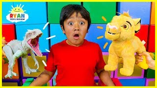 Download Ryan Pretend Play with The Lion King Simba takes over Pride Rock!!! Video
