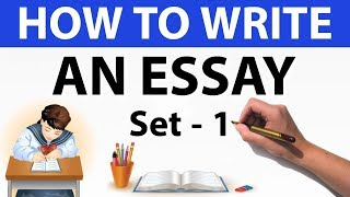 Download How to write an essay Set 1 - For UPSC / SBI PO / UIIC AO / State PSC & other competitive exams Video