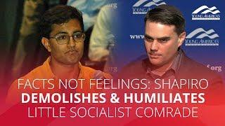 Download FACTS NOT FEELINGS: Shapiro demolishes & humiliates little socialist comrade Video