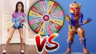 Download FORTNITE DANCE MYSTERY WHEEL CHALLENGE!! (In Real Life) Video