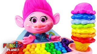 Download Learn Colors Videos for Kids: Trolls Poppy High Chair & Rainbow Ice Cream Cone with Paw Patrol Skye Video