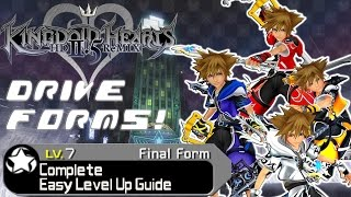 Download Kingdom Hearts HD 2.5 ReMIX - COMPLETE GUIDE: Drive Forms Easy Level Up (All Forms) (KH2 FM) Video